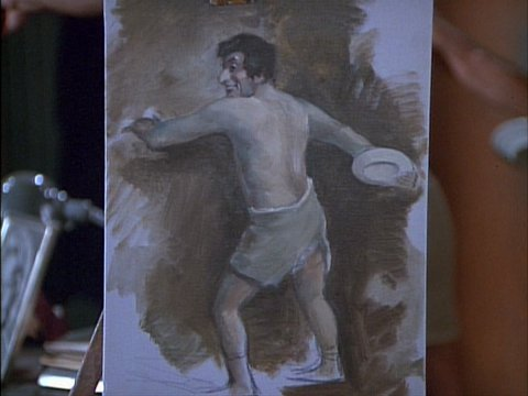 Colonel Potter's Painting of Klinger from The More I See You
