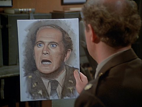 Colonel Potter's Painting of Charles from The Winchester Tapes
