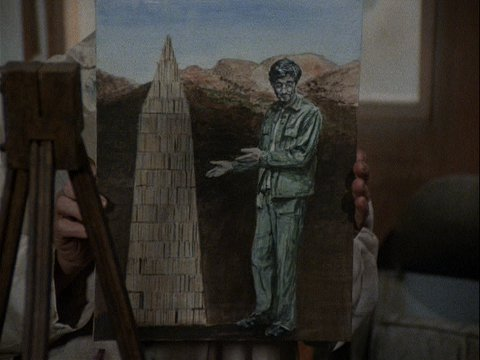 Colonel Potter's Painting of Hawkeye from Depressing News