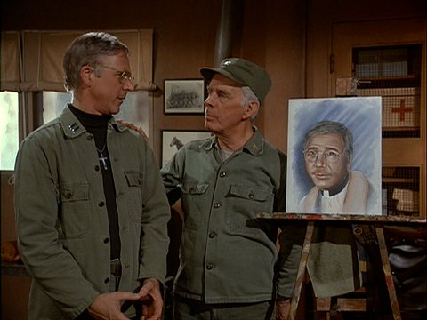 Colonel Potter's Painting of Father Mulcahy from Rumor At The Top