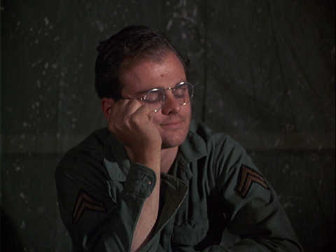 Still from the M*A*S*H episode Love Story showing Radar.