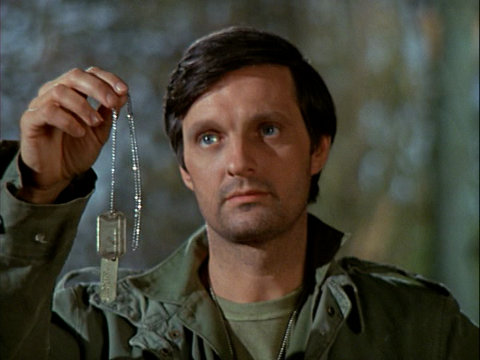 Still from the M*A*S*H episode Tuttle showing Hawkeye