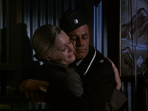 Still from the M*A*S*H episode Officers Only showing Henry and Nurse Watson.