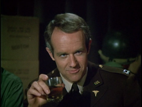Still from the M*A*S*H episode Welcome to Korea, showing B.J. Hunnicutt.