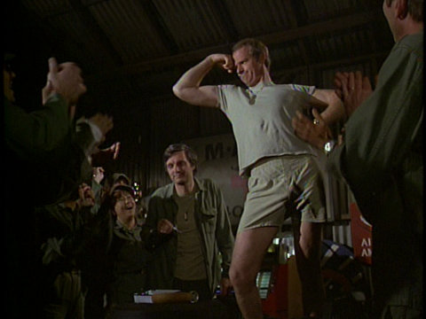 Still from the M*A*S*H episode Hepatitis showing B.J.
