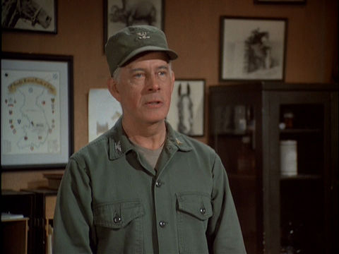 Screenshot featuring Harry Morgan as Colonel Potter