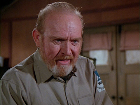 Still from the M*A*S*H episode Blood and Guts showing Clayton Kibbee