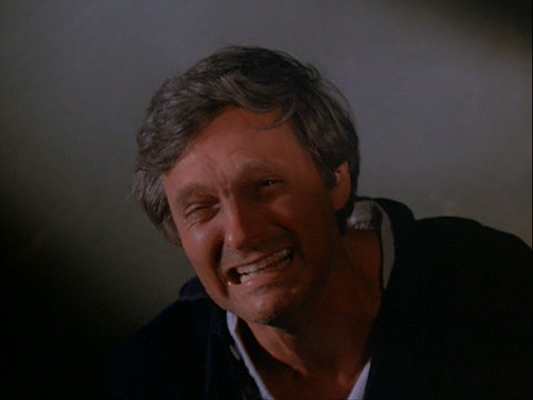Still from the M*A*S*H episode Goodbye, Farewell and Amen showing Hawkeye