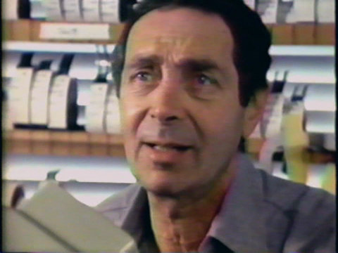 Image of film editor Stanford Tischler, from 1981