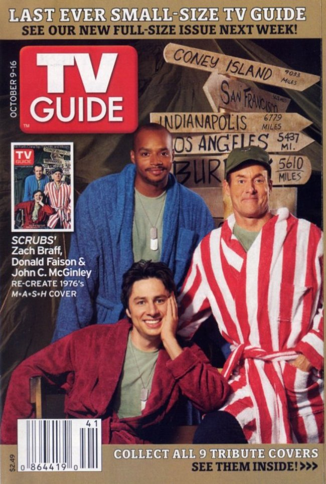 2005 scrubs m a s h tv guide cover mash4077tv com rh mash4077tv com Printable Week TV Guide OK Magazine Cover This Week