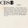 CBS Press Image Information Sheet