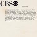 CBS Press Image Information Sheet