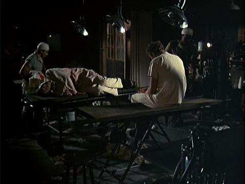 Hawkeye and Trapper in an empty O.R.