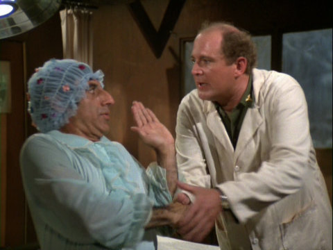 Klinger and Charles in the post op ward