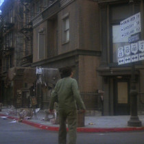 Klinger standing on the streets of Toledo