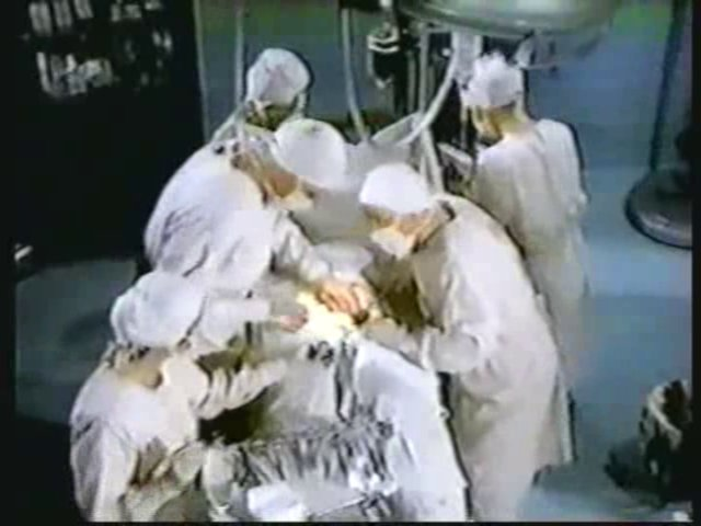 Still from the AfterMASH episode Night Shift showing the operating room.