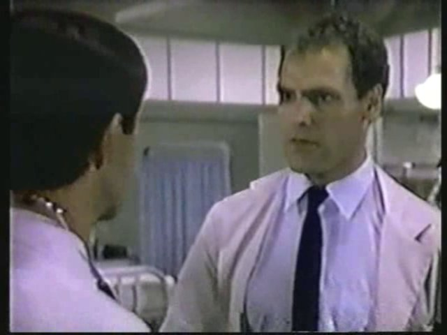 Still from the AfterMASH episode Bladder Day Saints showing Dr. Pfeiffer.