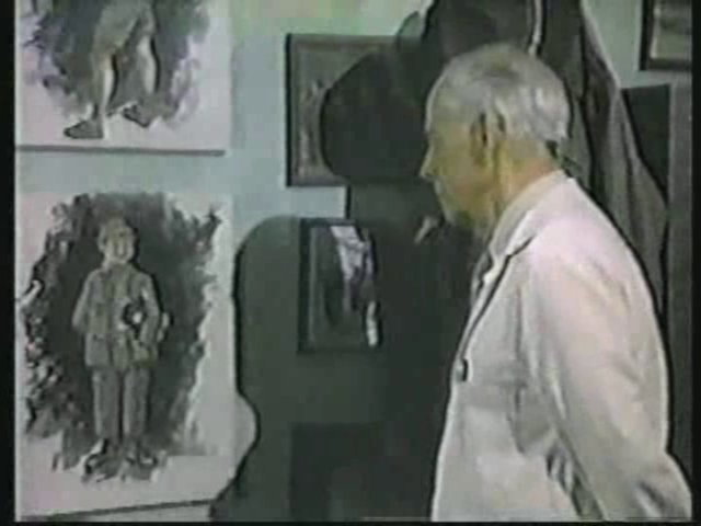 Still from the AfterMASH episode Chief of Staff showing Potter's painting of Radar.