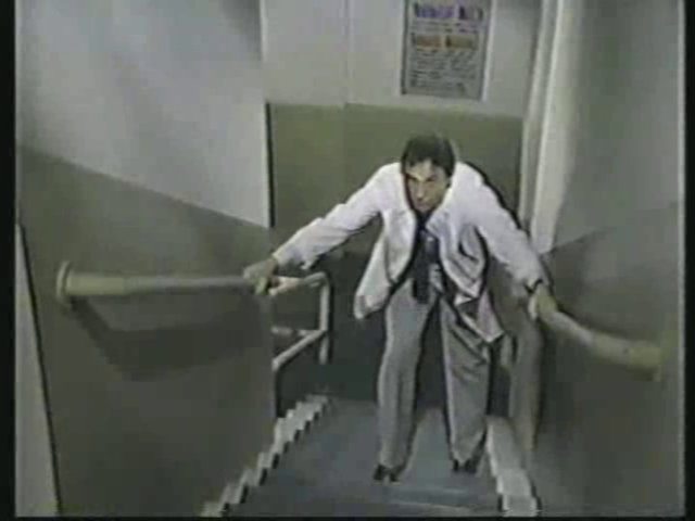 Still from the AfterMASH episode Up and Down Payments showing Dr. Boyer.