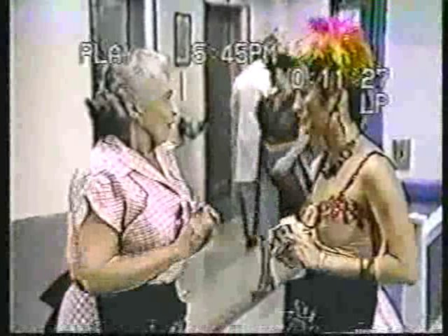 Still from the AfterMASH episode Ward Is Hell showing Mildred and Soon-Lee.