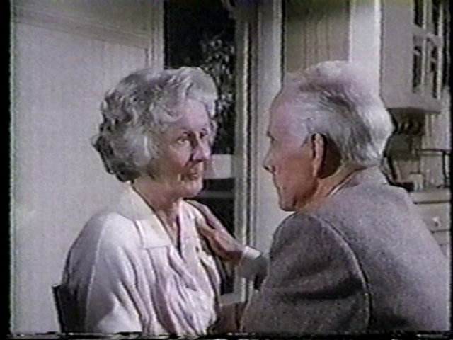 Still from the AfterMASH episode September of '53 showing Mildred and Sherman Potter.
