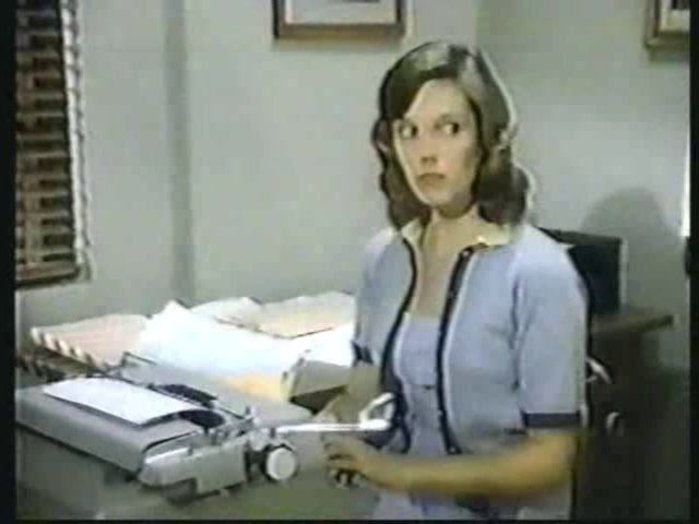 Still from the AfterMASH episode Together Again showing Bonnie Hornbeck.