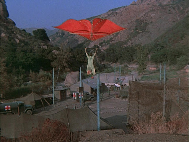 Still from the M*A*S*H episode The Trial of Henry Blake showing Klinger.