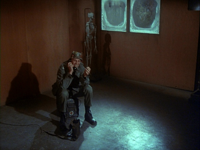Still from the M*A*S*H episode Crisis showing Colonel Blake.