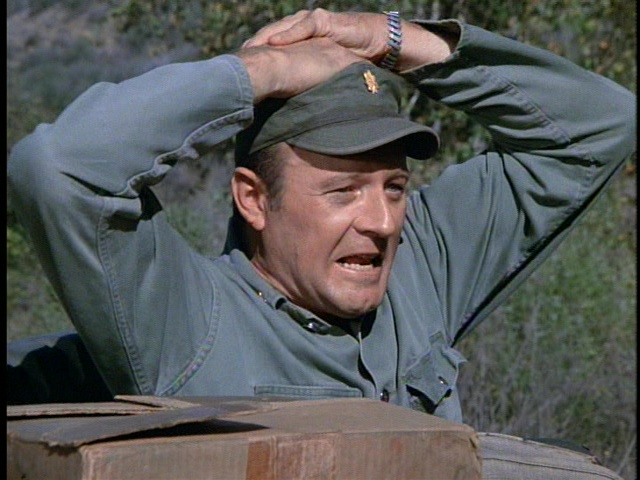 Still from the M*A*S*H episode The Korean Surgeon showing Frank.