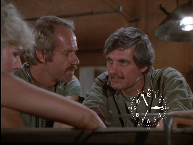 Still from the M*A*S*H episode Life Time showing Hawkeye and B.J.