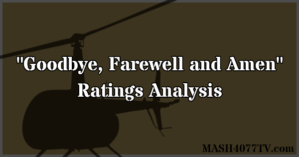 Learn about ratings for the M*A*S*H series finale.