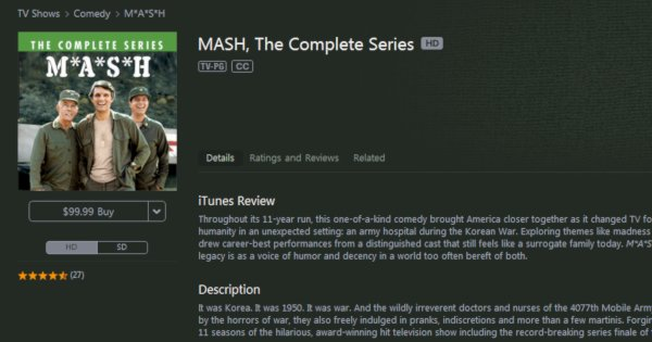 M*A*S*H on iTunes