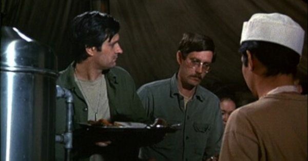 Partial still from an unidentified episode of MASH.