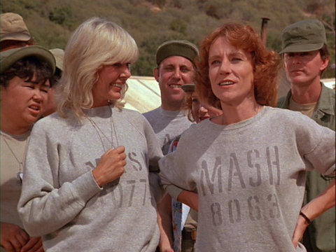 Image of Barbara Tarbuck from the M*A*S*H episode Run for the Money.