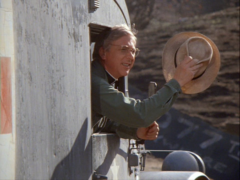 Image from the M*A*S*H episode Goodbye, Farewell and Amen showing Father Mulcahy.
