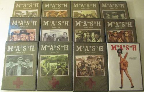 Photograph of 11 seasons of MASH on DVD.