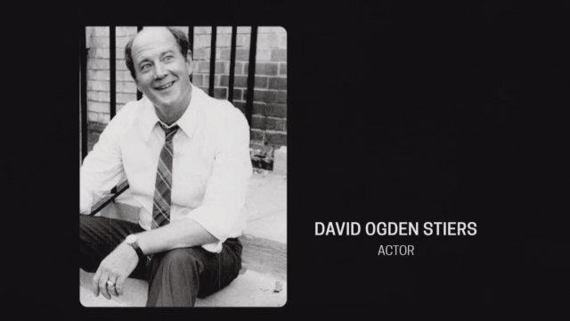 Still from the 70th Emmy Awards In Memoriam segment, showing David Ogden Stiers.