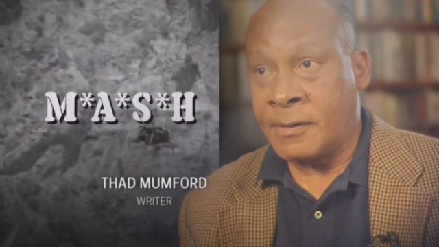 Still from the 70th Emmy Awards In Memoriam segment, showing Thad Mumford.