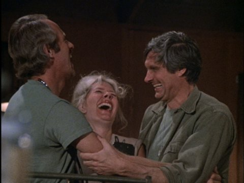 Still from the freeze frame ending to the M*A*S*H episode Life Time.