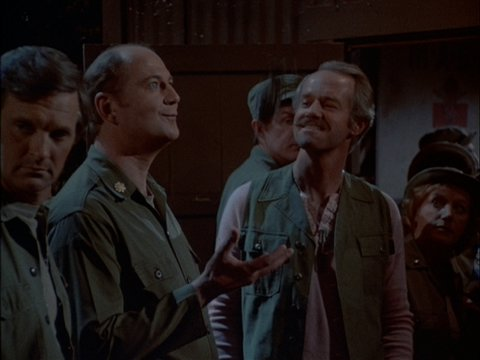 Still from the freeze frame ending to the M*A*S*H episode As Time Goes By.