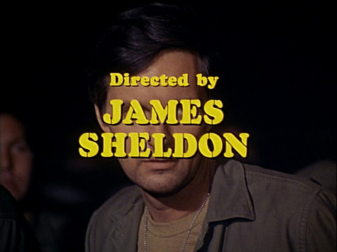 "Image of director James Sheldon's credit from the M*A*S*H episode ""Edwina"" from Season 2."