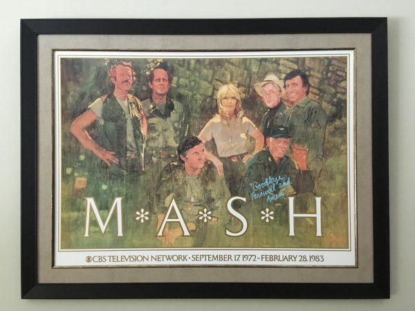 A picture of my framed M*A*S*H poster.