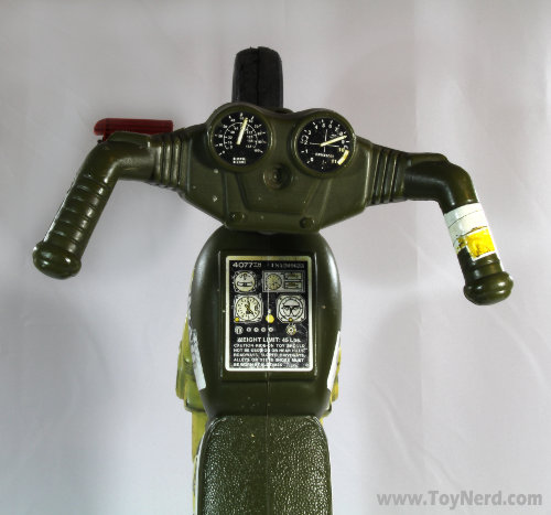 Picture of a M*A*S*H ride on motorcycle toy