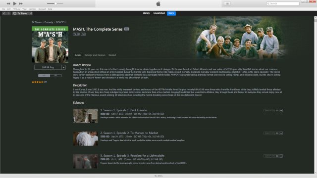 The iTunes page for the complete series.