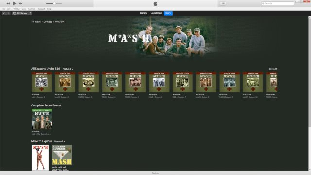 The M*A*S*H page on iTunes.