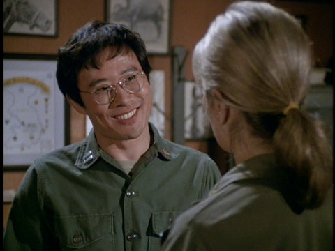 Still from the M*A*S*H episode The Korean Surgeon showing Soon-Tek Oh.