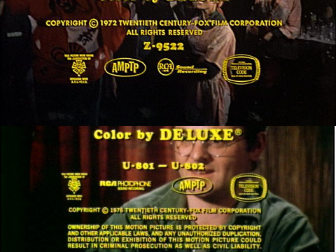Image featuring production codes from two episodes of M*A*S*H.