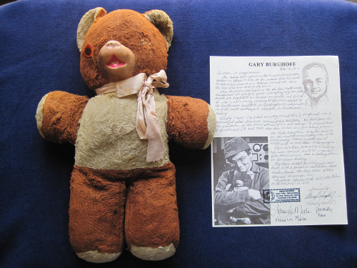 Image of Radar's teddy bear, taken from an eBay listing.