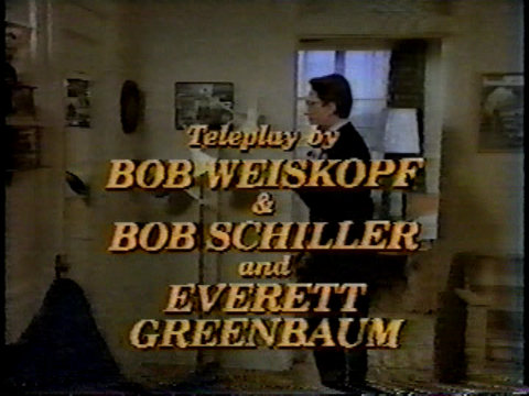 Still from the unsold pilot W*A*L*T*E*R showing Bob Schiller's teleplay credit.