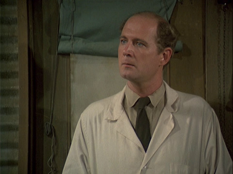 Actor David Ogden Stiers in the MASH episode Fade Out, Fade In
